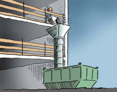 Medium illustrasjon rivearbeider